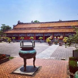 Courtyard inside Hue's Imperial City