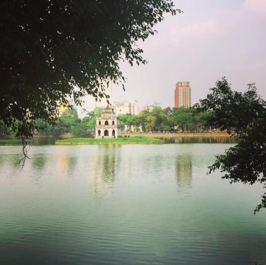 Hoam Kiem Lake in Hanoi Old Quarter