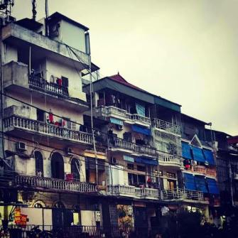 Old architecture in the Old Quarter of Hanoi