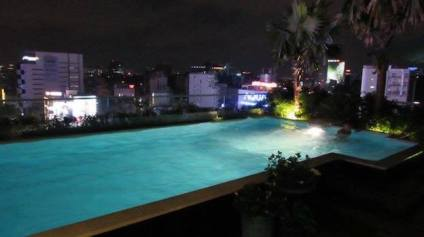 Roof top pool at Alagon