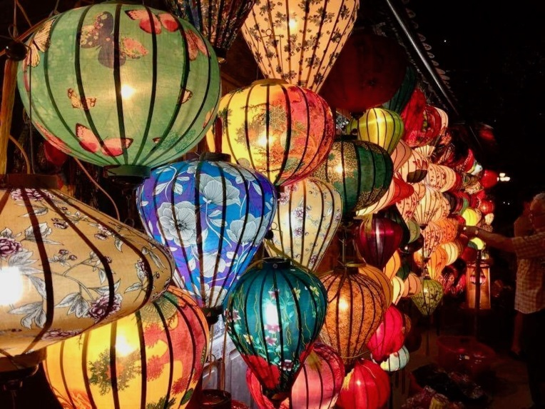 Beautiful lanterns in a shop in Hot An