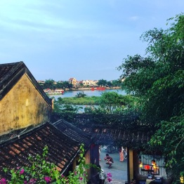 View from Lantern Town over the river