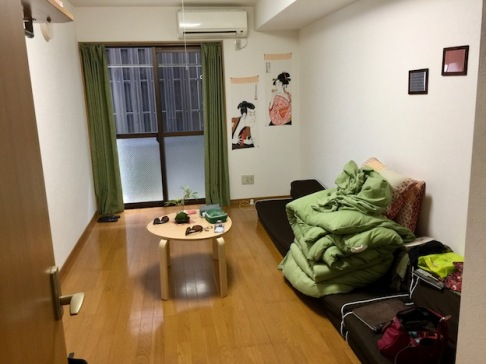 Our lounge / bedroom with futon
