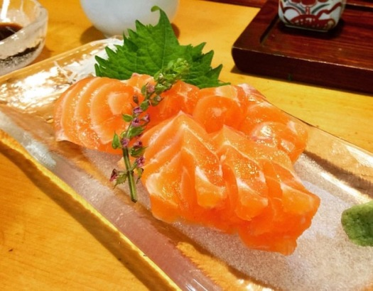 Salmon sashimi to die for!