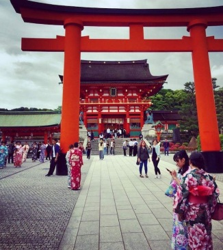 Beautiful entrance to Fushimi Inari Shrine