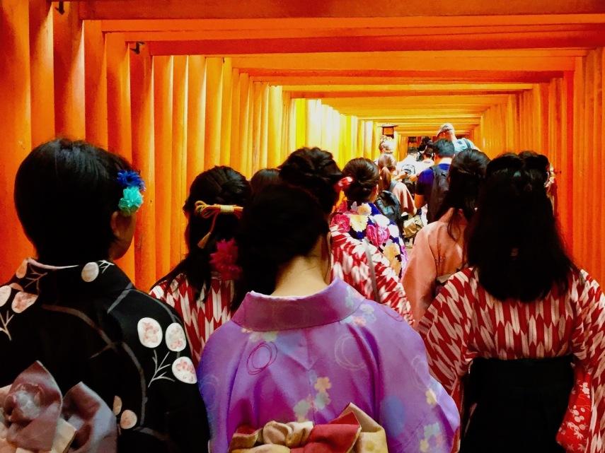 Kimonos and torii gates
