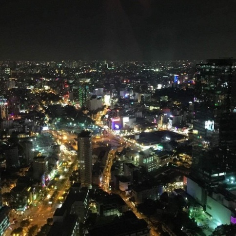The city view by night
