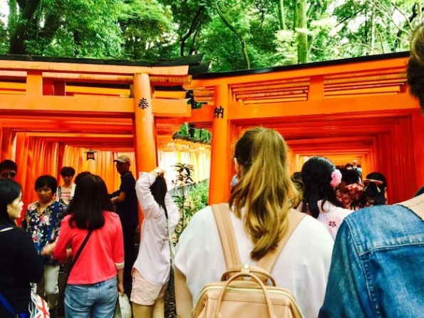 The torii gates - keep to the right