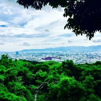Amazing views of Kyoto half way up towards mount inari