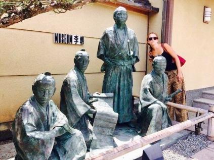 Statues in Arashiyama town