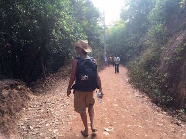 Matt walking in Gokarna, South India