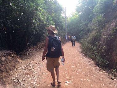 Matt walking in Gokarna, South India