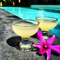Daiquiri Cocktails by the Pool