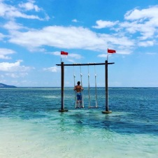 Lovely swing opposite Island View Bungalows and bar
