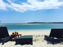 Our favourite spot to sunbathe on Gili Air