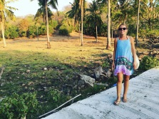 Walking on the interior of Gili T; so rural