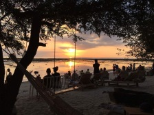 Pretty sunset in front of Casa Vintage on Gili T