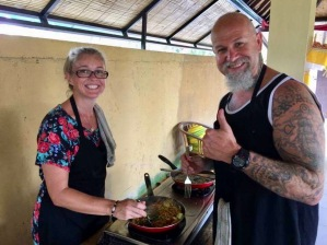 Danni and Steve cooking away!