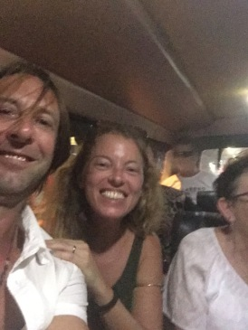 End of the night, ride around Legian in a mini van taxi! Fun evening!