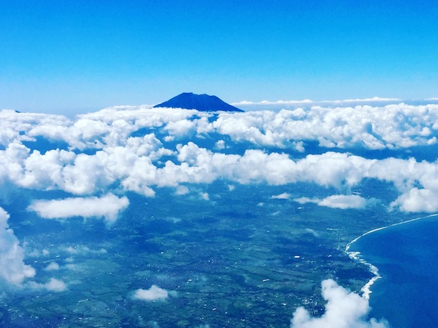 Mount Agung from the plane