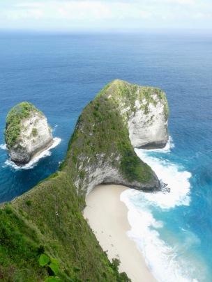Nusa Penida clifftop view from above