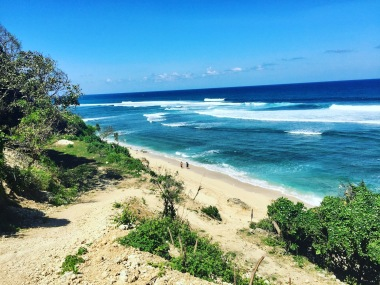 Beautiful secluded beach in Uluwatu