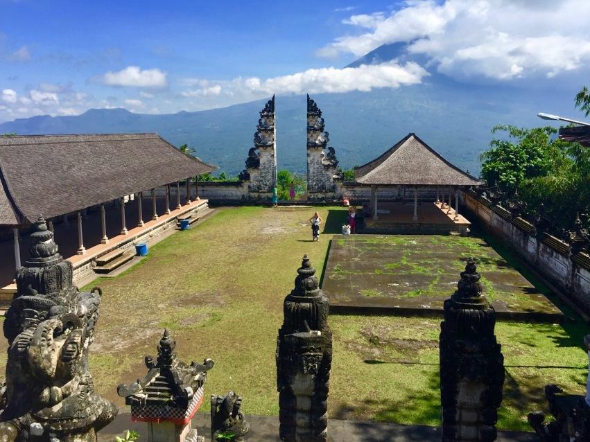 View of Mount Agung from Pura Lempuyang
