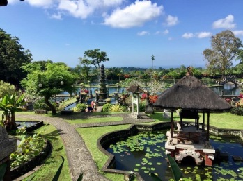Beautiful Tirta Gangga gardens