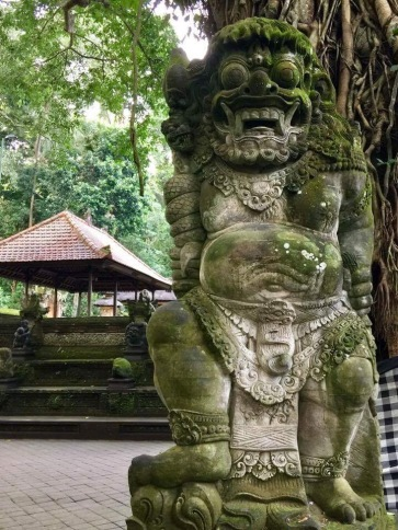Statues in Ubud Monkey Forest