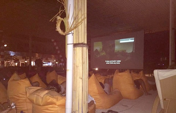 Open Air Cinema at Hotel Ombak on Gili Air