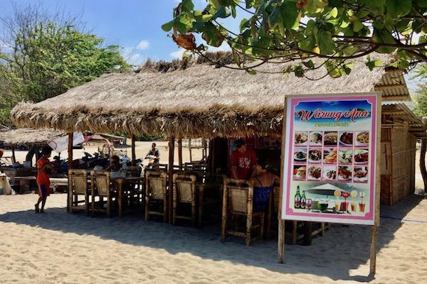 Warung on Mawun Beach