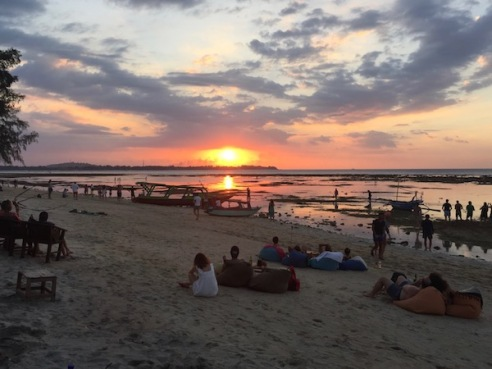 Sunset at Mirage Bar Gili Air