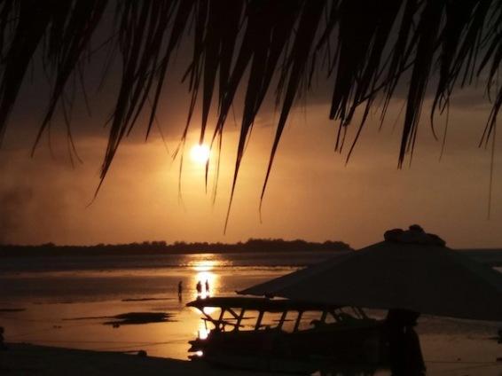 Sunset at Mirage Bar on Gili Air