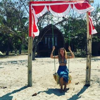I found a swing on Gili Layar!