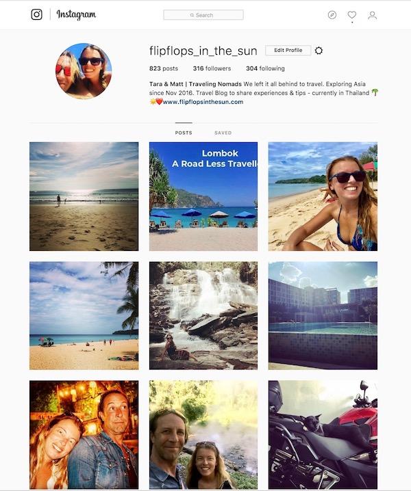Instagram FlipFlops in the sun
