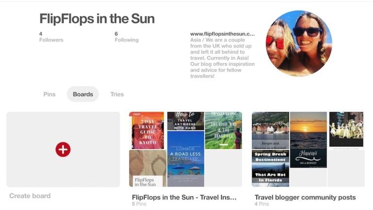 Pinterest FlipFlops account