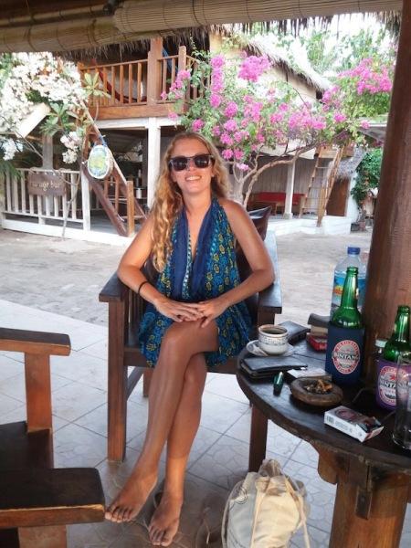 Sitting in Mirage Bar