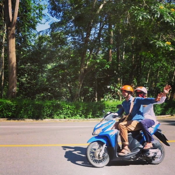 Scooter ride to Pai Thailand